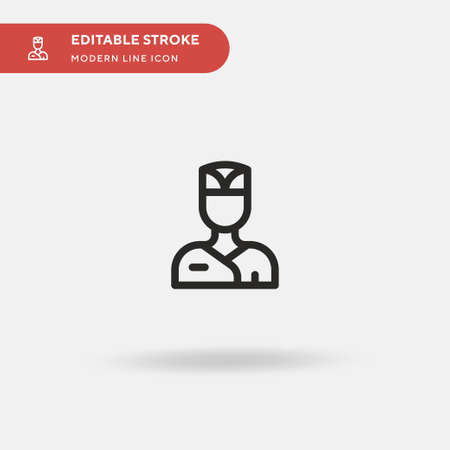 Chef Simple vector icon. Illustration symbol design template for web mobile UI element. Perfect color modern pictogram on editable stroke. Chef icons for your business project Vettoriali