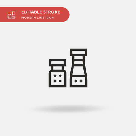 Spices Simple vector icon. Illustration symbol design template for web mobile UI element. Perfect color modern pictogram on editable stroke. Spices icons for your business project