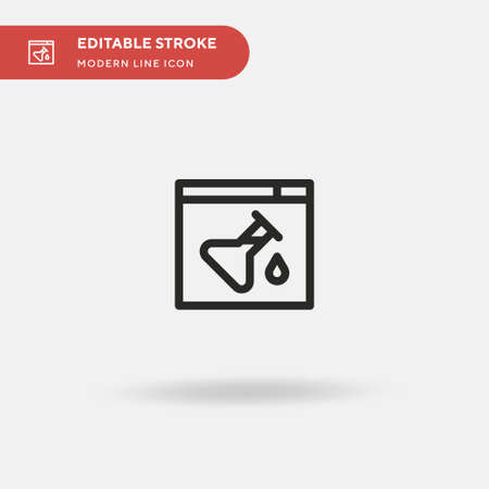 Experiment Simple vector icon. Illustration symbol design template for web mobile UI element. Perfect color modern pictogram on editable stroke. Experiment icons for your business project