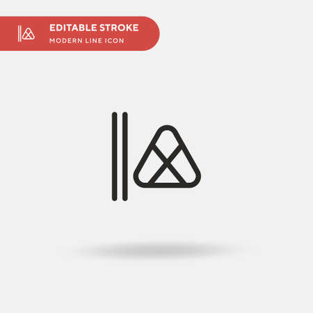Zongzi Simple vector icon. Illustration symbol design template for web mobile UI element. Perfect color modern pictogram on editable stroke. Zongzi icons for your business project Ilustracja