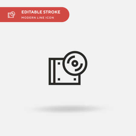 Cds Simple vector icon. Illustration symbol design template for web mobile UI element. Perfect color modern pictogram on editable stroke. Cds icons for your business project