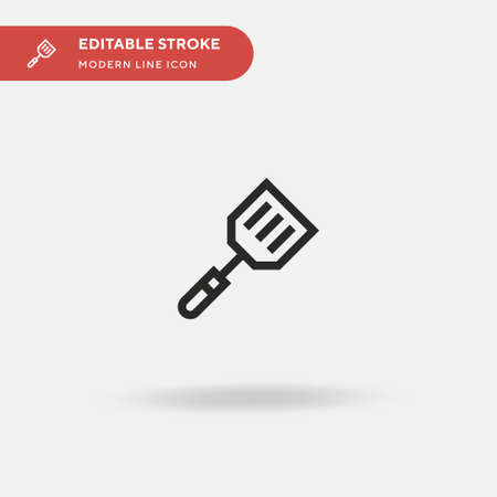 Spatula Simple vector icon. Illustration symbol design template for web mobile UI element. Perfect color modern pictogram on editable stroke. Spatula icons for your business project