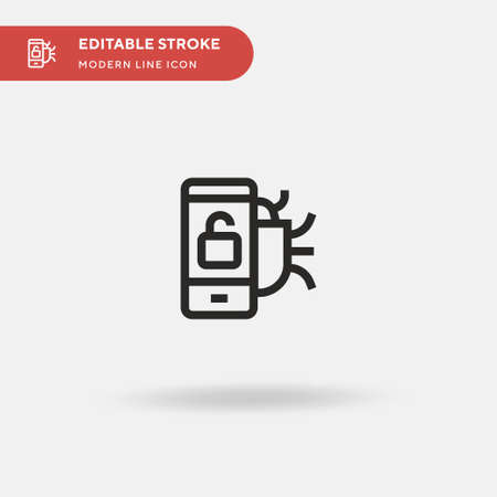 Unlock Simple vector icon. Illustration symbol design template for web mobile UI element. Perfect color modern pictogram on editable stroke. Unlock icons for your business project