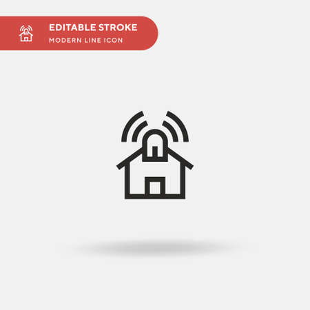 Smarthome Simple vector icon. Illustration symbol design template for web mobile UI element. Perfect color modern pictogram on editable stroke. Smarthome icons for your business project Stock Illustratie