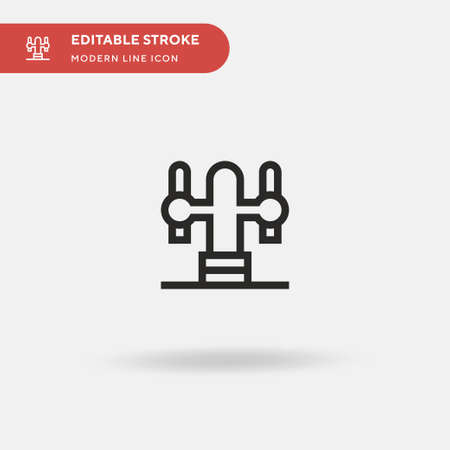 Beer Tap Simple vector icon. Illustration symbol design template for web mobile UI element. Perfect color modern pictogram on editable stroke. Beer Tap icons for your business project Ilustracja