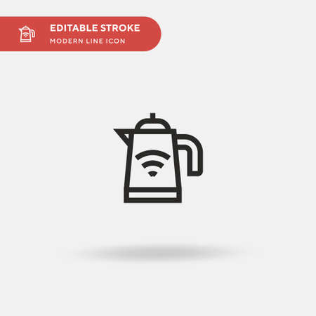 Kettle Simple vector icon. Illustration symbol design template for web mobile UI element. Perfect color modern pictogram on editable stroke. Kettle icons for your business project