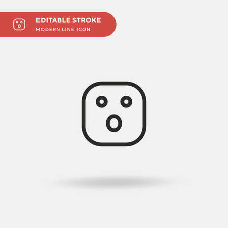 Surprise Simple vector icon. Illustration symbol design template for web mobile UI element. Perfect color modern pictogram on editable stroke. Surprise icons for your business project