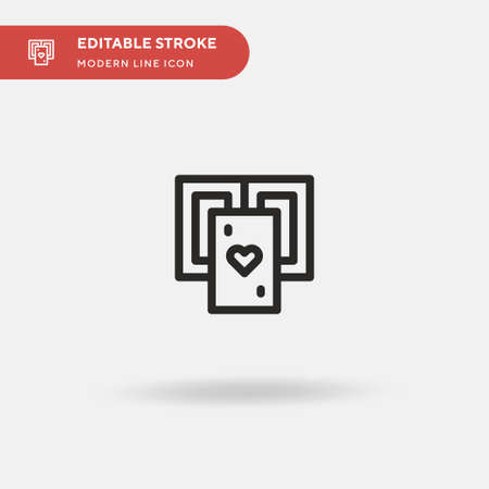 Poker Cards Simple vector icon. Illustration symbol design template for web mobile UI element. Perfect color modern pictogram on editable stroke. Poker Cards icons for your business project