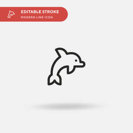 Dolphin Simple vector icon. Illustration symbol design template for web mobile UI element. Perfect color modern pictogram on editable stroke. Dolphin icons for your business project Illustration