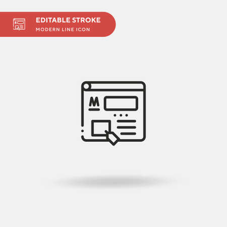 Marketplace Simple vector icon. Illustration symbol design template for web mobile UI element. Perfect color modern pictogram on editable stroke. Marketplace icons for your business project Çizim