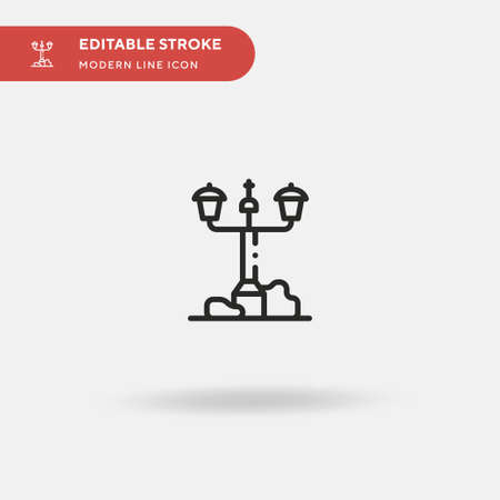Street Lamp Simple vector icon. Illustration symbol design template for web mobile UI element. Perfect color modern pictogram on editable stroke. Street Lamp icons for your business project