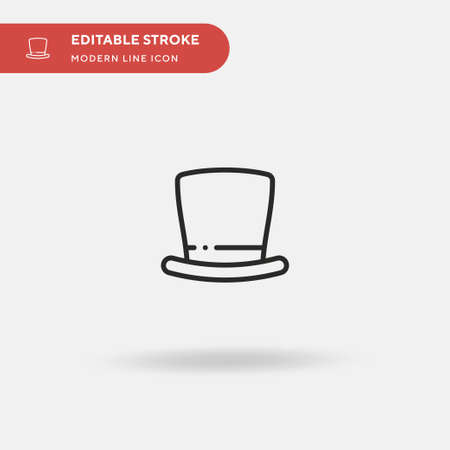 Top Hat Simple vector icon. Illustration symbol design template for web mobile UI element. Perfect color modern pictogram on editable stroke. Top Hat icons for your business project
