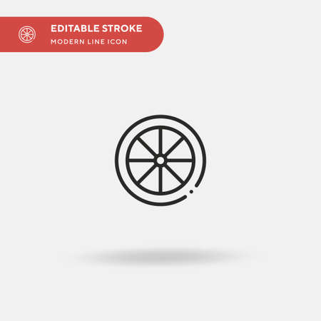 Wheel Simple vector icon. Illustration symbol design template for web mobile UI element. Perfect color modern pictogram on editable stroke. Wheel icons for your business project