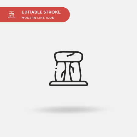 Stonehenge Simple vector icon. Illustration symbol design template for web mobile UI element. Perfect color modern pictogram on editable stroke. Stonehenge icons for your business project Çizim