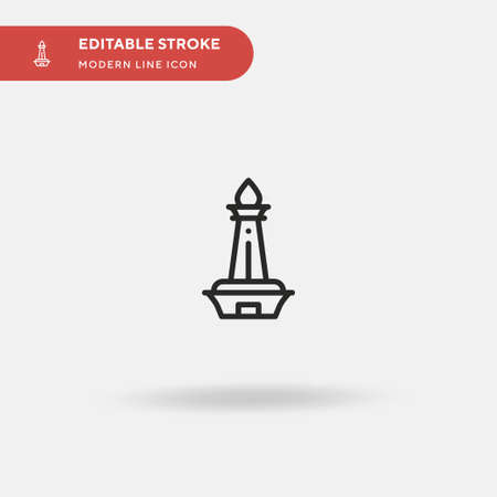 Monas Simple vector icon. Illustration symbol design template for web mobile UI element. Perfect color modern pictogram on editable stroke. Monas icons for your business project