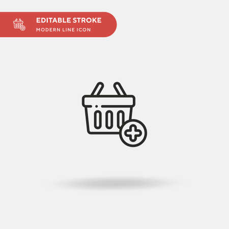 Basket Simple vector icon. Illustration symbol design template for web mobile UI element. Perfect color modern pictogram on editable stroke. Basket icons for your business project Çizim