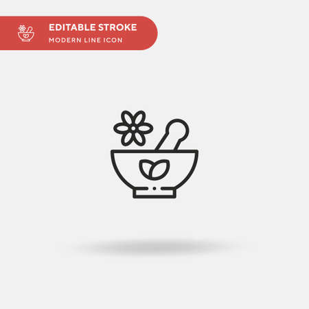 Herb Simple vector icon. Illustration symbol design template for web mobile UI element. Perfect color modern pictogram on editable stroke. Herb icons for your business project
