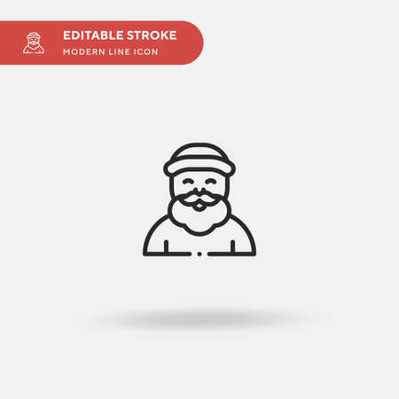 Santa Claus Simple vector icon. Illustration symbol design template for web mobile UI element. Perfect color modern pictogram on editable stroke. Santa Claus icons for your business project  イラスト・ベクター素材