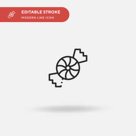 Peppermint Simple vector icon. Illustration symbol design template for web mobile UI element. Perfect color modern pictogram on editable stroke. Peppermint icons for your business project  イラスト・ベクター素材