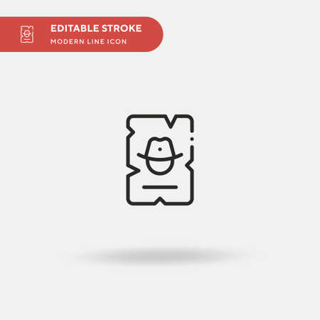 Wanted Simple vector icon. Illustration symbol design template for web mobile UI element. Perfect color modern pictogram on editable stroke. Wanted icons for your business project