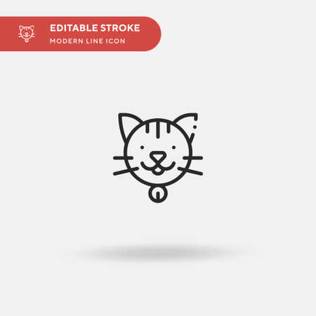 Cat Simple vector icon. Illustration symbol design template for web mobile UI element. Perfect color modern pictogram on editable stroke. Cat icons for your business project