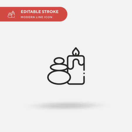 Spa Simple vector icon. Illustration symbol design template for web mobile UI element. Perfect color modern pictogram on editable stroke. Spa icons for your business project 版權商用圖片