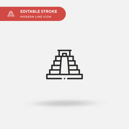 Maya Pyramid Simple vector icon. Illustration symbol design template for web mobile UI element. Perfect color modern pictogram on editable stroke. Maya Pyramid icons for your business project Ilustração