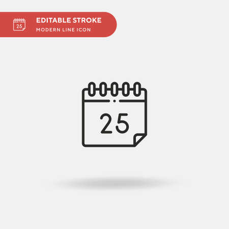 December Simple vector icon. Illustration symbol design template for web mobile UI element. Perfect color modern pictogram on editable stroke. December icons for your business project