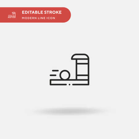 Bowling Lane Simple vector icon. Illustration symbol design template for web mobile UI element. Perfect color modern pictogram on editable stroke. Bowling Lane icons for your business project