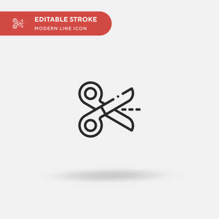Scissors Simple vector icon. Illustration symbol design template for web mobile UI element. Perfect color modern pictogram on editable stroke. Scissors icons for your business project