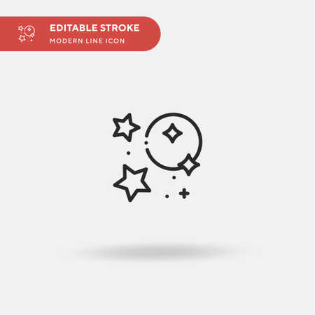 Constellation Simple vector icon. Illustration symbol design template for web mobile UI element. Perfect color modern pictogram on editable stroke. Constellation icons for your business project