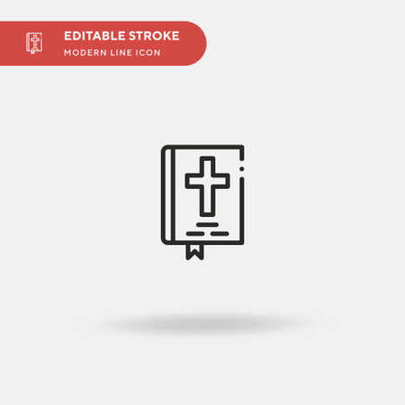 Sacred Scriptures Simple vector icon. Illustration symbol design template for web mobile UI element. Perfect color modern pictogram on editable stroke. Sacred Scriptures icons for your business project  イラスト・ベクター素材