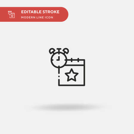Alert Simple vector icon. Illustration symbol design template for web mobile UI element. Perfect color modern pictogram on editable stroke. Alert icons for your business project Vettoriali