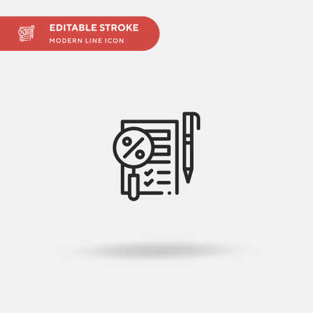 Search Simple vector icon. Illustration symbol design template for web mobile UI element. Perfect color modern pictogram on editable stroke. Search icons for your business project