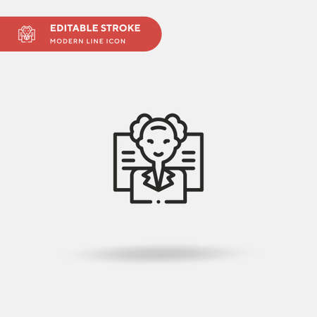 Professor Simple vector icon. Illustration symbol design template for web mobile UI element. Perfect color modern pictogram on editable stroke. Professor icons for your business project Ilustracja