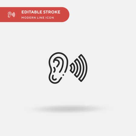 Sound Simple vector icon. Illustration symbol design template for web mobile UI element. Perfect color modern pictogram on editable stroke. Sound icons for your business project