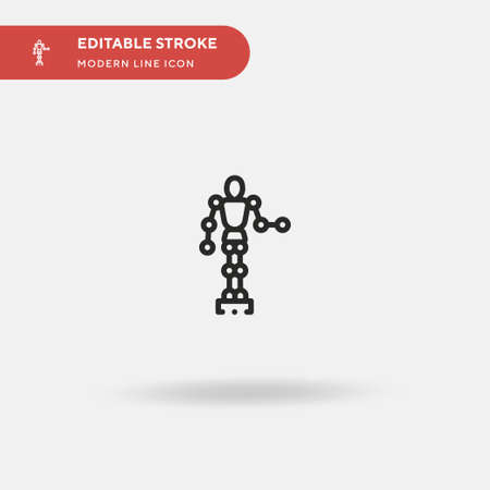 Dummy Simple vector icon. Illustration symbol design template for web mobile UI element. Perfect color modern pictogram on editable stroke. Dummy icons for your business project Ilustracja