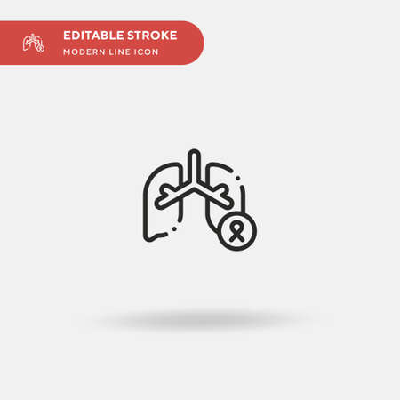 Lung Cancer Simple vector icon. Illustration symbol design template for web mobile UI element. Perfect color modern pictogram on editable stroke. Lung Cancer icons for your business project Vector Illustration