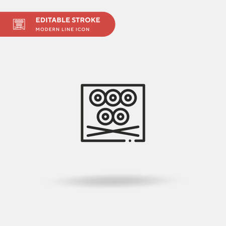 Sushi Simple vector icon. Illustration symbol design template for web mobile UI element. Perfect color modern pictogram on editable stroke. Sushi icons for your business project