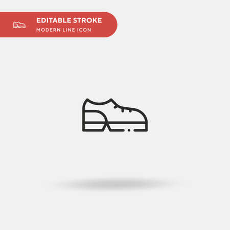 Shoes Simple vector icon. Illustration symbol design template for web mobile UI element. Perfect color modern pictogram on editable stroke. Shoes icons for your business project