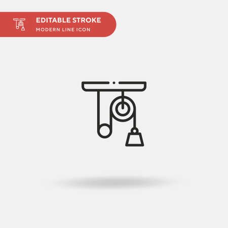 Pulley Simple vector icon. Illustration symbol design template for web mobile UI element. Perfect color modern pictogram on editable stroke. Pulley icons for your business project