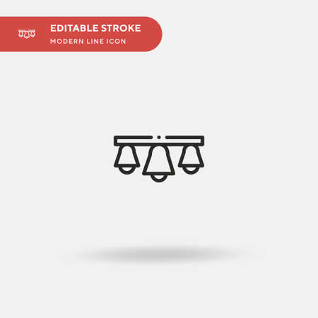Bells Simple vector icon. Illustration symbol design template for web mobile UI element. Perfect color modern pictogram on editable stroke. Bells icons for your business project