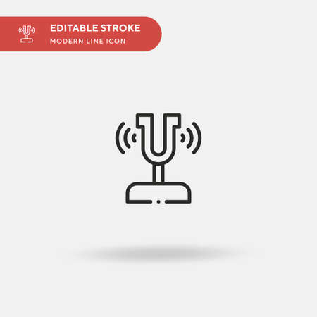 Sound Fork Simple vector icon. Illustration symbol design template for web mobile UI element. Perfect color modern pictogram on editable stroke. Sound Fork icons for your business project