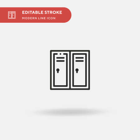 Locker Simple vector icon. Illustration symbol design template for web mobile UI element. Perfect color modern pictogram on editable stroke. Locker icons for your business project Ilustração