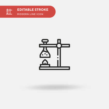 Flask Simple vector icon. Illustration symbol design template for web mobile UI element. Perfect color modern pictogram on editable stroke. Flask icons for your business project