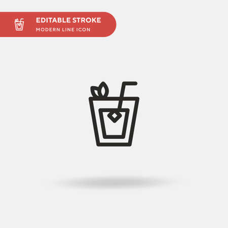 Mojito Simple vector icon. Illustration symbol design template for web mobile UI element. Perfect color modern pictogram on editable stroke. Mojito icons for your business project