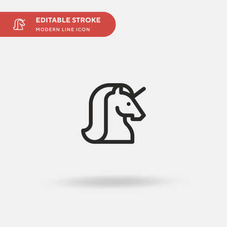 Unicorn Simple vector icon. Illustration symbol design template for web mobile UI element. Perfect color modern pictogram on editable stroke. Unicorn icons for your business project