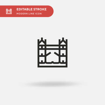 Tower Bridge Simple vector icon. Illustration symbol design template for web mobile UI element. Perfect color modern pictogram on editable stroke. Tower Bridge icons for your business project Ilustrace
