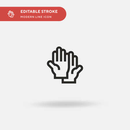 Rubber Gloves Simple vector icon. Illustration symbol design template for web mobile UI element. Perfect color modern pictogram on editable stroke. Rubber Gloves icons for your business project