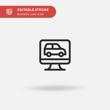 Car Simple vector icon. Illustration symbol design template for web mobile UI element. Perfect color modern pictogram on editable stroke. Car icons for your business project Ilustracja